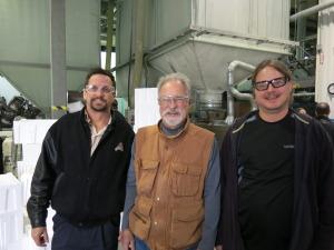 From l to r: Rob (Van Houtte), Grant (APRA), Brian (Van Houtte)