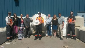 Award ceremony at the Airdrie Recycling Depot