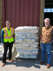 Sharon Howland, Cochrane's Manager, Waste & Recycling with Grant Cameron, Executive Director, APRA