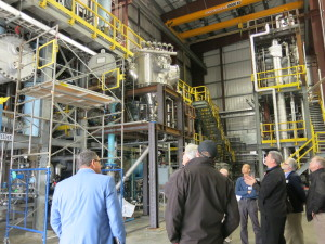 Inside the testing and research area for the Enerkem waste to fuel plant.